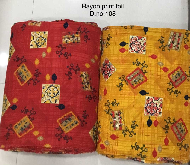Designer Rayon foil Printed