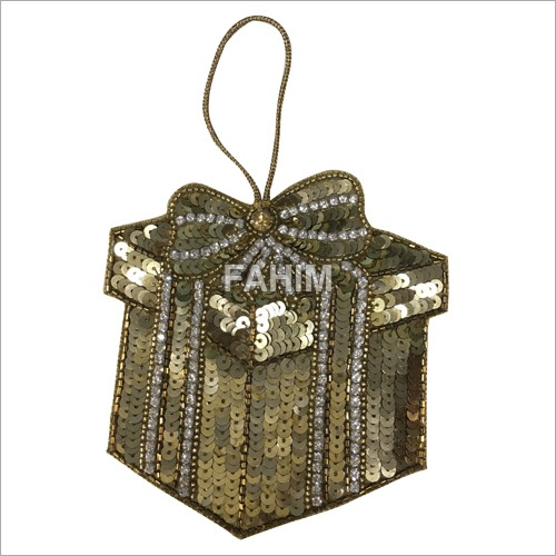 Hand Sequin Christmas Ornaments Patch