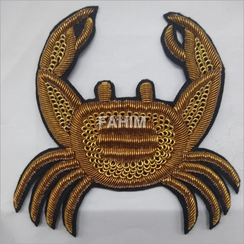 Hand Embroidery Golden Patch