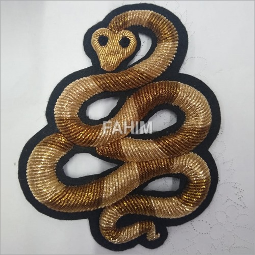 Embroidery Snake Patch