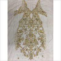 Hand Embroidery Crystal Gown Work