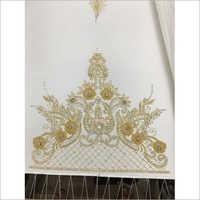 Hand Embroidery Jewel Effect Neckline Work
