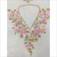 Hand Embroidery Neckline With Fancy Work