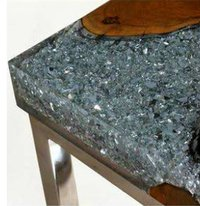 wooden resin stone clear table top for hotel and home high quality new design