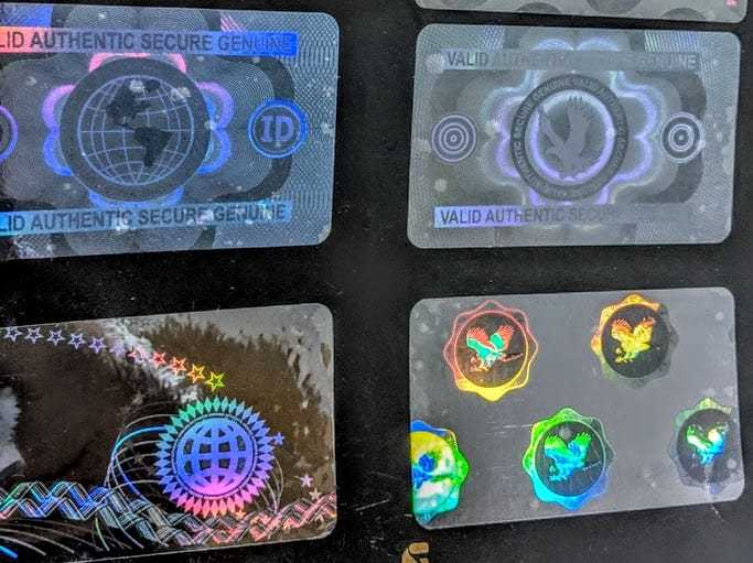 Custom Secure Earth Multi Holographic
