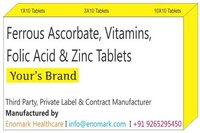 Ferrous Ascorbate,Vitamins,Folic Acid & Zinc Tablets