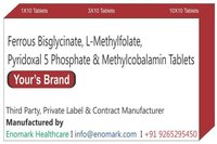 Ferrous bisglycinate L-Methylfolate Pyridoxal 5 Phosphate Methylcobalamin Tablets