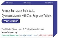 Ferrous Fumarate Folic Acid cyanocobalamin with Zinc Sulphate Tablets