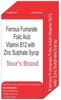 Ferrous Fumarate Folic Acid Vitamin B12 with Zinc Sulphate Syrup