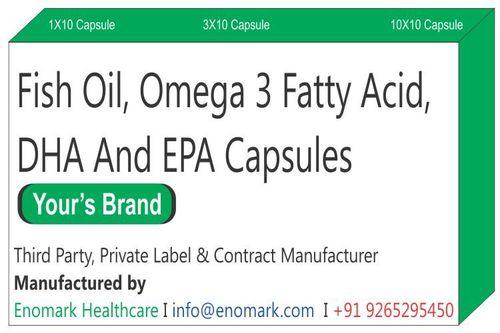 Fish Oil Omega 3  Fatty Acid DHA and EPA Capsules
