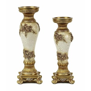 Andreas Design Two Piece Hurricane Candle Stick Set