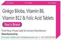 Ginkgo Biloba Vitamin B6 Vitamin B12 Folic Acid Tablets