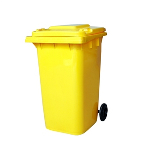 Yellow 2 Wheeled Dustbin