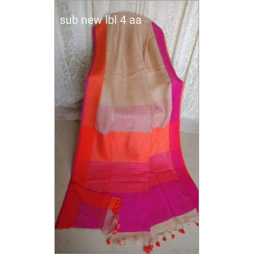 Linen Plain Border Saree