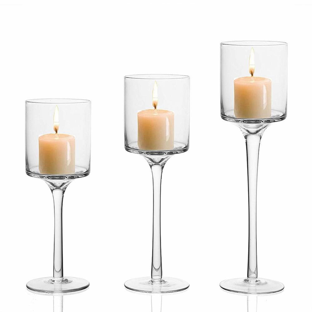 Clear Glass Tealight Candle Holder