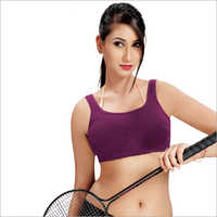Ladies Purple Sports Bra