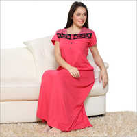 Nylon Ladies Night Gown