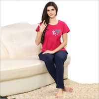 Ladies T-Shirt With Pajama Set