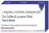 L arginine l Carnitine Coenzyme Q10 Zinc Sulfate Lycopene tablet