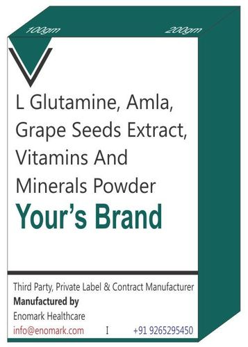 L Glutamine Amla Grape Seeds Extract Vitamins and Minerals Powder