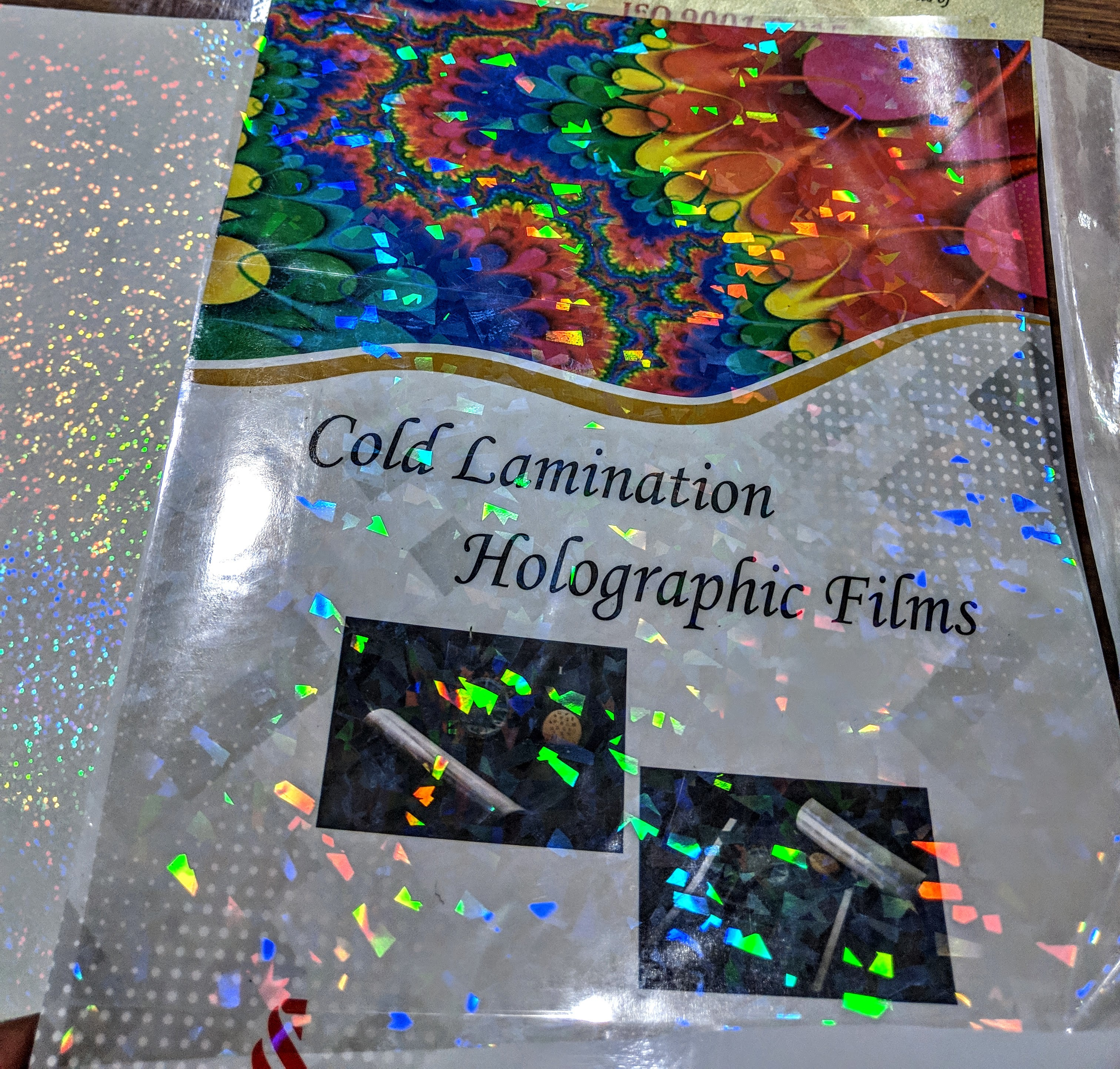 Crack Ice Transparent Holographic Films