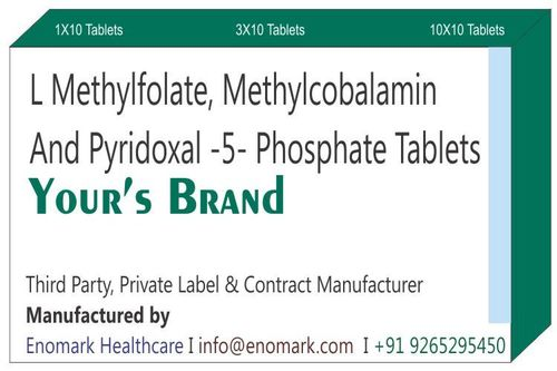 L Methylfolate Methylcobalamin Pyridoxal -5- Phosphate Tablets