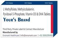 L Methylfolate Methylcobalamin Pyridoxal-5-Phosphate Vitamin D3 & DHA Tablets