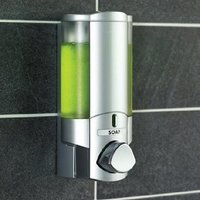Chrome Translucent Dispenser,Lockable Single