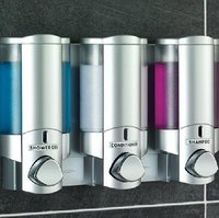 Chrome Translucent Dispenser,Lockable Single