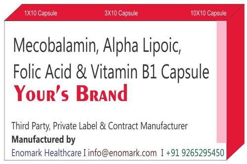 Mecobalamin Alpha Lipoic Folic Acid Vitamin B1 Capsule