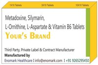 Metadoxine  silymarin  l-ornithine l-aspartate  vitamin b6