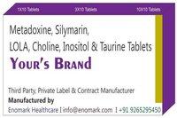 Metadoxine Silymarin LOLA Choline Inositol Taurine Tablets
