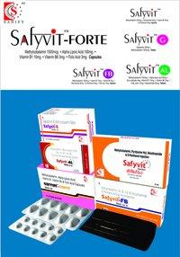 Methylcobalamine 1500mcg + Alpha Lipoic Acid 100 mg + Vitamin B1 10mg + Vitamin B6 3 mg + Folic Acid 1.5 mg