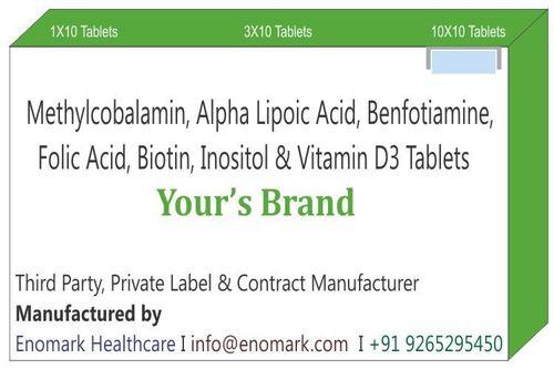 Methylcobalamin  Alpha Lipoic Acid Benfotiamine Folic Acid Biotin Inositol and Vitamin D3 Tablets