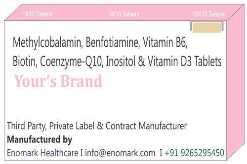 Methylcobalamin Benfotiamine Vitamin B6 Biotin Coenzyme-Q10 Inositol Vitamin D3 Tablets