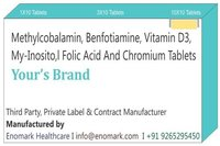 Methylcobalamin Benfotiamine vitamin d3  My-Inositol Folic Acid & chromium Tablets