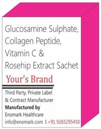 Glucosamine Sulphate Collagen Peptide,  Vitamin C & Rosehip Extract Sachet