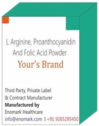 L Arginine Proanthocyanidin (95% grape seed extract) and Folic Acid Powder