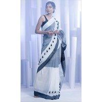 Handloom Khadi Cotton Pompom Sarees