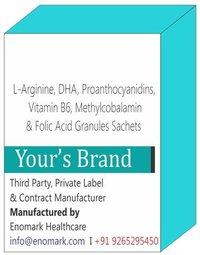 L-Arginine, DHA, Proanthocyanidins, Vitamin B6, Methylcobalamin & Folic Acid Granules Sachets