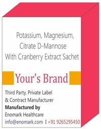 Potassium Magnesium Citrate D-Mannose With Cranberry Extract Sachet