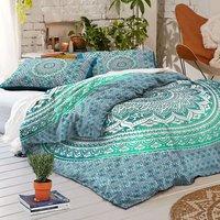 Indian Mandala Green Cotton Duvet Cover