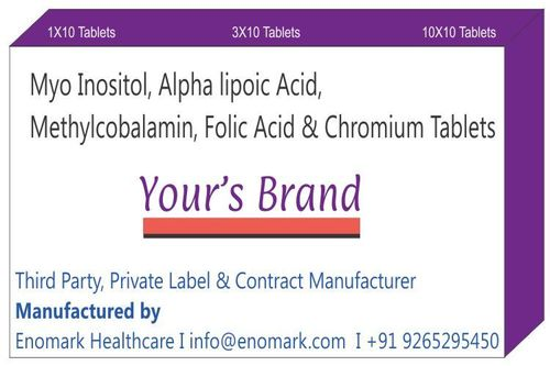 Myo inositol Alpha lipoic Acid Methylcobalamin folic acid & chromium Tablets