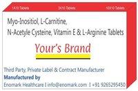 Myo-Inositiol L-Carnitine N-AcetyleCysteine Vitamin E L-Arginine Tablets