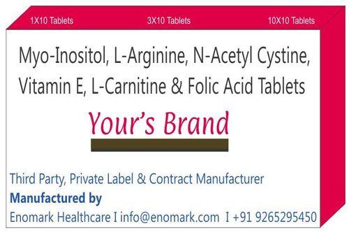 Myo-inositol  L-Arginine N-Acetyl Cystine Vitamin E L-Carnitine Folic Acid
