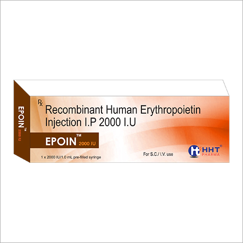 RECOMBINANT HUMAN ERYTHROPOIETIN INJECTION IP 2000 IU