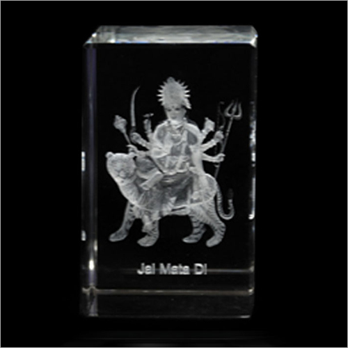 Durga Maa Crystal Cube