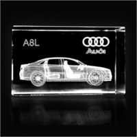 3D Crystal Audi Cube
