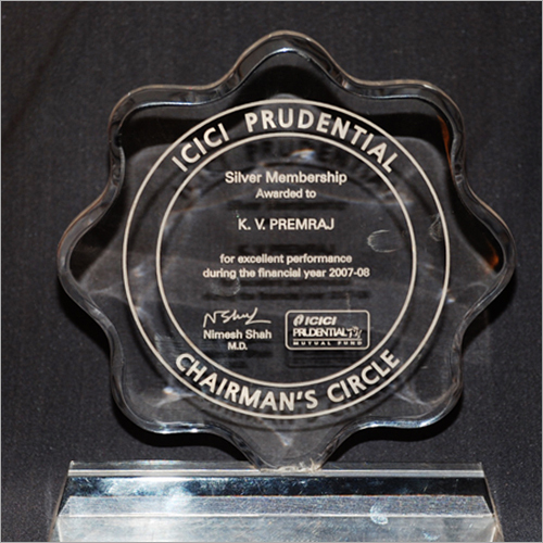ICICI Prudential Crystal Plaque