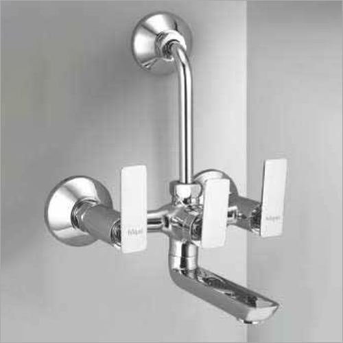 Wall Mounted Wall Mixer With L Bend Pipe And Crutch